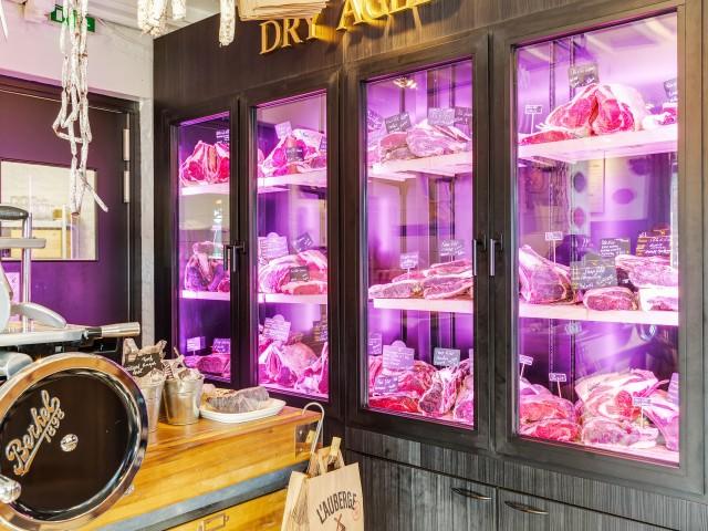 L'Auberge cave de maturation, restaurant, boucherie, steakhouse, viande d'exception, viande maturée, côte à l'os, dryage, mouvaux, lille, hauts de france