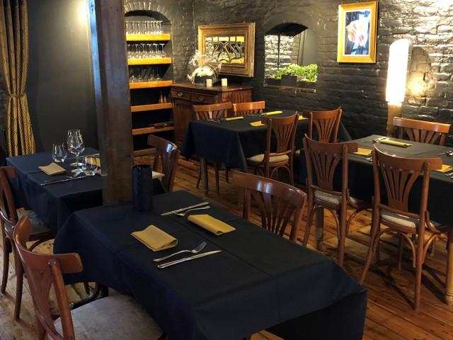 L'Auberge salle du restaurant, cave de maturation, restaurant, boucherie, steakhouse, viande d'exception, viande maturée, côte à l'os, dryage, mouvaux, lille, hauts de france