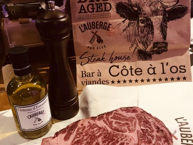 L'Auberge vente à emporter, cave de maturation, restaurant, boucherie, steakhouse, viande d'exception, viande maturée, côte à l'os, dryage, mouvaux, lille, hauts de france